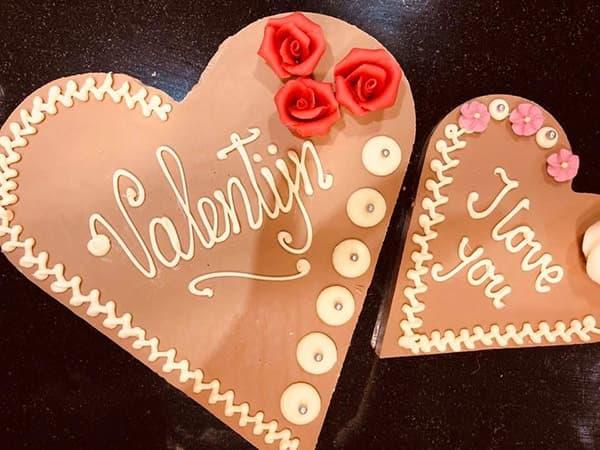 Chocolade hart Bakkerij Hendriksen